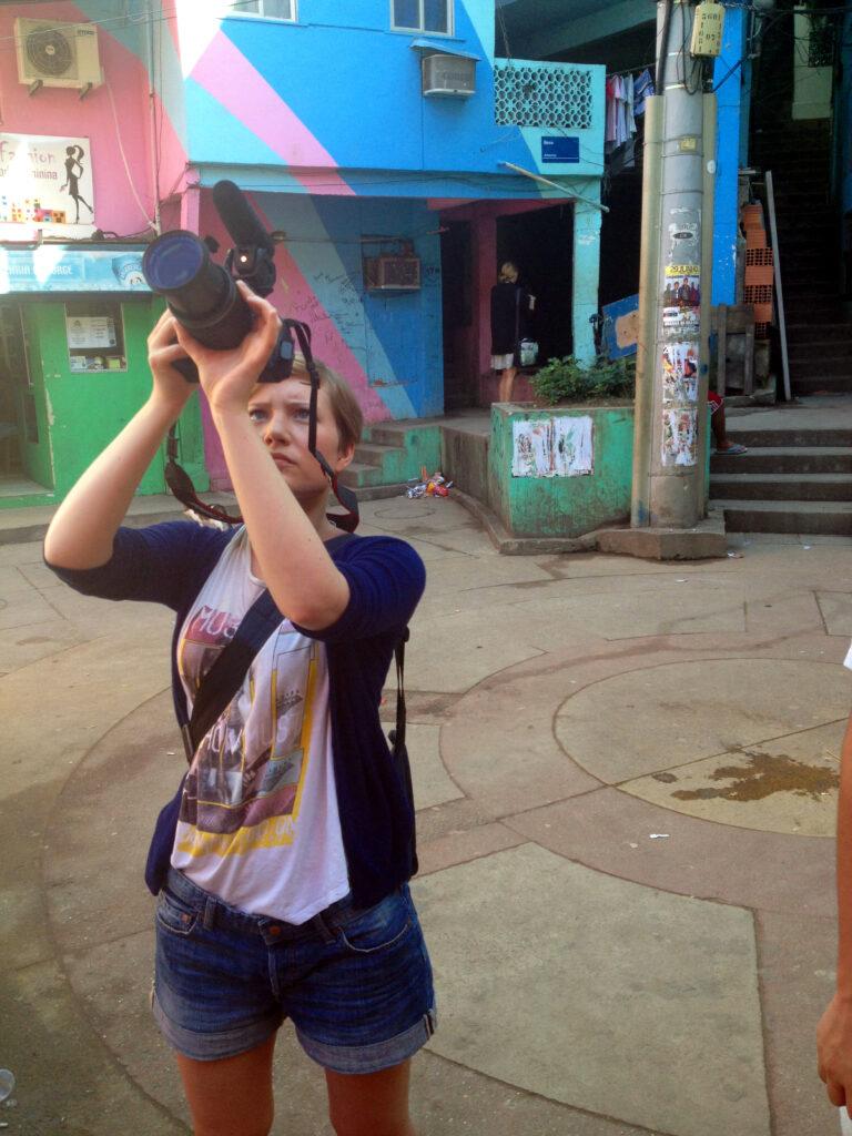 """In der Favela """"Santa Marta"""" war es ein bisschen bunter."""