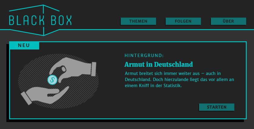 Die Blackbox.wiki-Startseite.